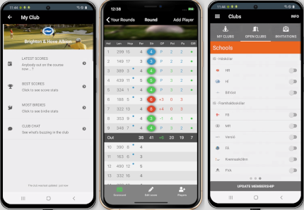 golf club management - score registration with golf80